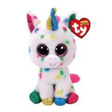 Ty Beanie Elephant and Monkey Plush Doll Toys for Girl Rabbit Fox Cute Animal Owl Unicorn Cat Ladybug 6″ 15cm