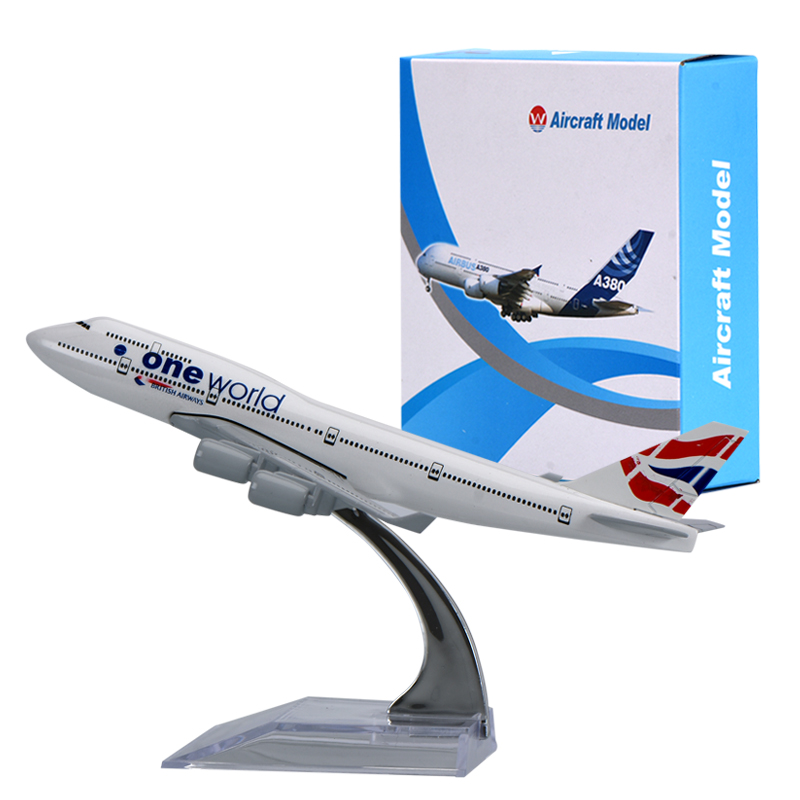 WR UK A380 Mini Airplane Model Home Decoration British Airways Aircraft Model Ornamentation Toy For Christmas Gifts
