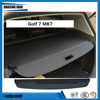 For Golf 7 MK7 2014 2015 2016 2017 2018 Rear Trunk Security Shield Nylon Polyester Cargo Cover High Qualit Auto Accessories