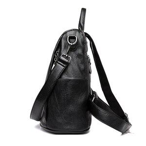 Image 4 - Moda 2018 kadın sırt çantası gençlik deri Vintage gençler için sırt çantaları kızlar kadın okul çantası sırt çantası mochila kese dos