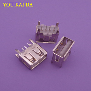 2000 sztuk laptop płyta główna micro 2.0 USB 4pin 4 pin DC biały typ kąt płaski 180 stopni kobieta złącze PCB gniazdo wtyczka Jack