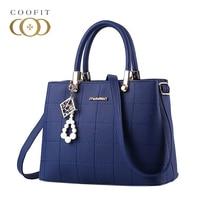 Coofit Luxury Designer Women Handbags Elegant Female PU Leather Messenger Bags Shinny Pearls Travel Shoulder Bags Daypack Tote