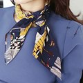 Ladies Head Scarfs Bags Wraps Multifunction Square Scarf Printed British Style Brand Casual Silk Scarf  70*70cm