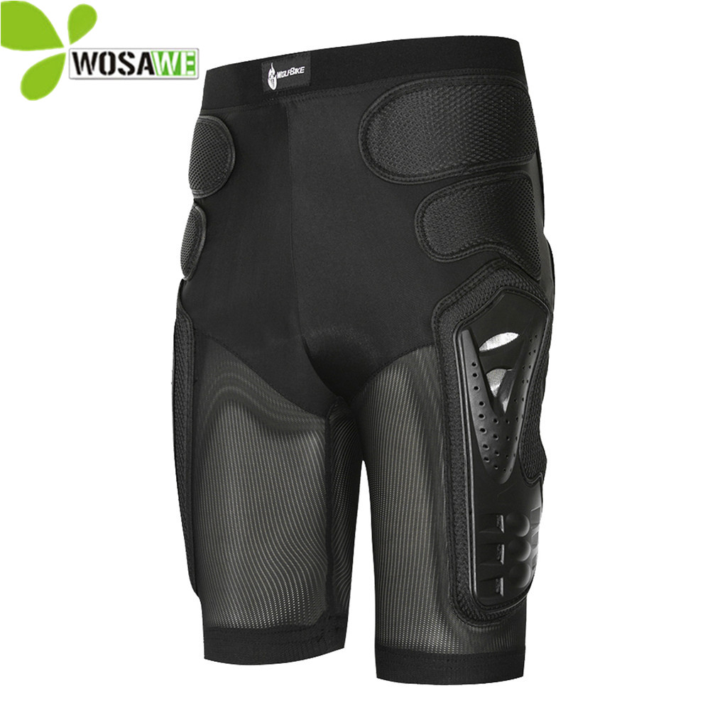 WOLFBIKE Hockey Motorcycle Hip Armor Shorts Off-road Motorcross Downhill MTB Bike Skating Extreme Sport Protective Gear Pad