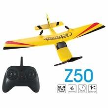 Z50 rc avião epp espuma planador avião giroscópio 2.4g 2ch rtf wingspan avião de controle remoto engraçado meninos aviões interessante brinquedos