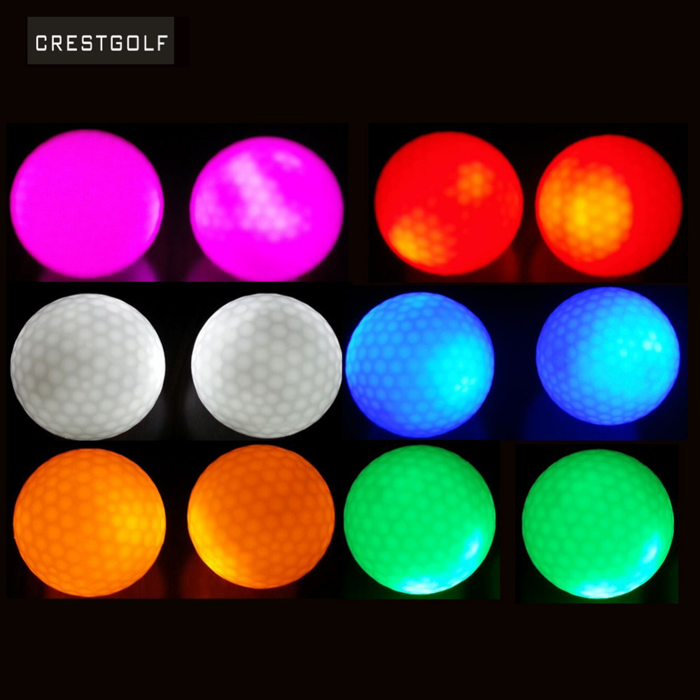 CRESTGOLF 4pcs per pack Hi-Q USGA Led Golf Balls for night training Luxury Golf Practice Balls with 6 colors