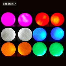 Crestgolf 4szt za opakowanie Hi-Q USGA LED Golf piłki do treningu nocnego luksusowe piłki golfowe Practice z 6 kolorami tanie tanio 80 - 90 Two Piece Ball