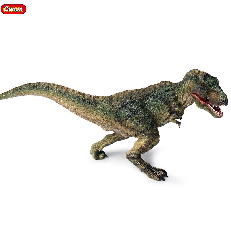 Oenux Jurassic Carnivorous Large T-Rex Mouth Can Open Big Dinosaurs Park Action Figure PVC High quality Educational Toy For Kid oenux prehistoric jurassic tyrannosaurus rex spinosaurus t rex dinossauro world model savage dinosaurs action figure toy for kid