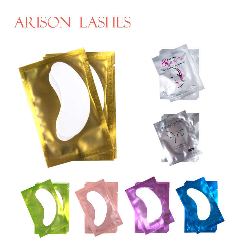 50/100 Pasang/Lot Patch untuk Ekstensi Bulu Mata Di Bawah Mata Bantalan Kertas Patch Pink Lint Gratis Stiker untuk Bulu Mata Palsu