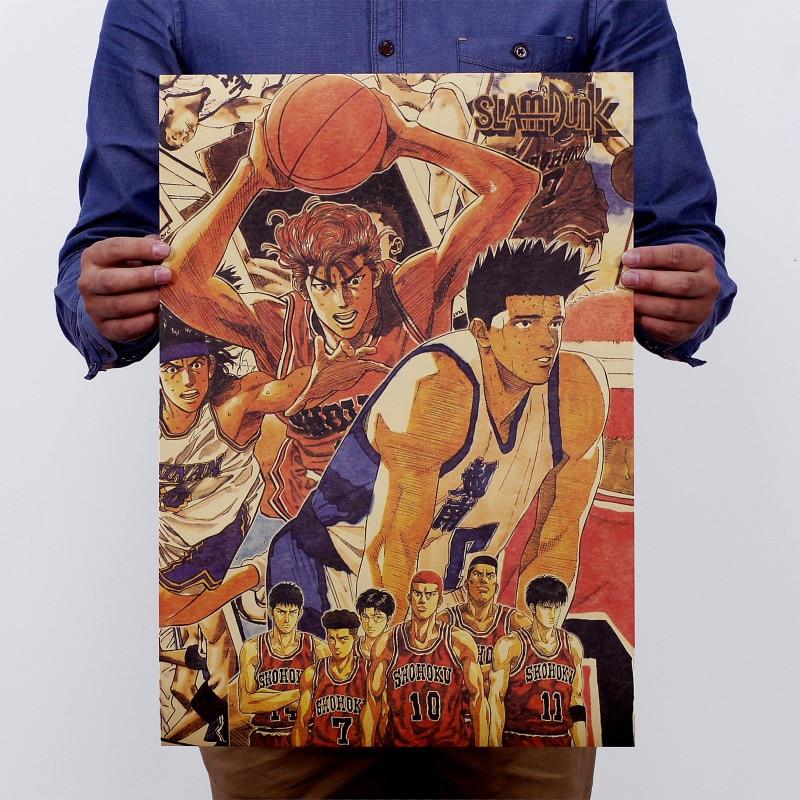 The Japanese Anime SLAM DUNK Nostalgic Vintage Kraft Paper
