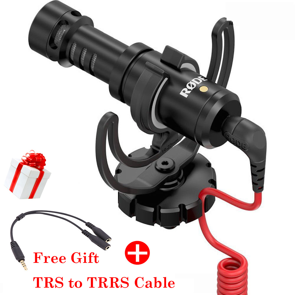Ulanzi Rode VideoMicro Compact On Camera Microphone with Rycote Lyre Shock Mount with free Windshield and