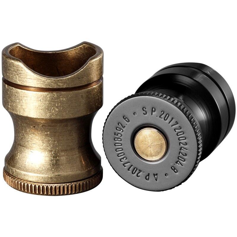 Poche Noir et Bronze Haute Qualité En Acier Inoxydable Stand Montrant Portable Cigare Cendrier Titulaire W/Cigare Forage