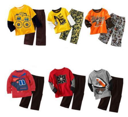 Children's Clothing Set Pajamas Sets Kids Girls Tshirt Pants Newborn Baby Boys Clothes Suits Kids Clothes Roupas Infantis Menino