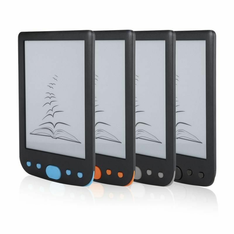 Haute qualité e lecteur de livre d'encre 6 pouces lecteur 2019 plus récent e lecteur de livre d'encre avec couvercle de protection e-ink lecteur d'écran 4 couleurs