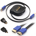 Top Quality 3in1 HDMI to HDMI/Mini/Micro Cable HDMI Adaptor Cable Kit HD for Tablet PC TV #ET950