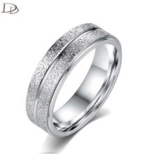 DODO Fashion Ti Stainless Steel Double Row AAA Zircon Ring For Women Men Jewelry Cool Punk Party Bague Silver Color Bijoux R140(China)