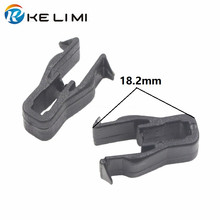 цена на KELIMI 100x Universal Car Instrument panel Snaps clips Black Plastic Trim Panel Dashboard U Type Fasteners