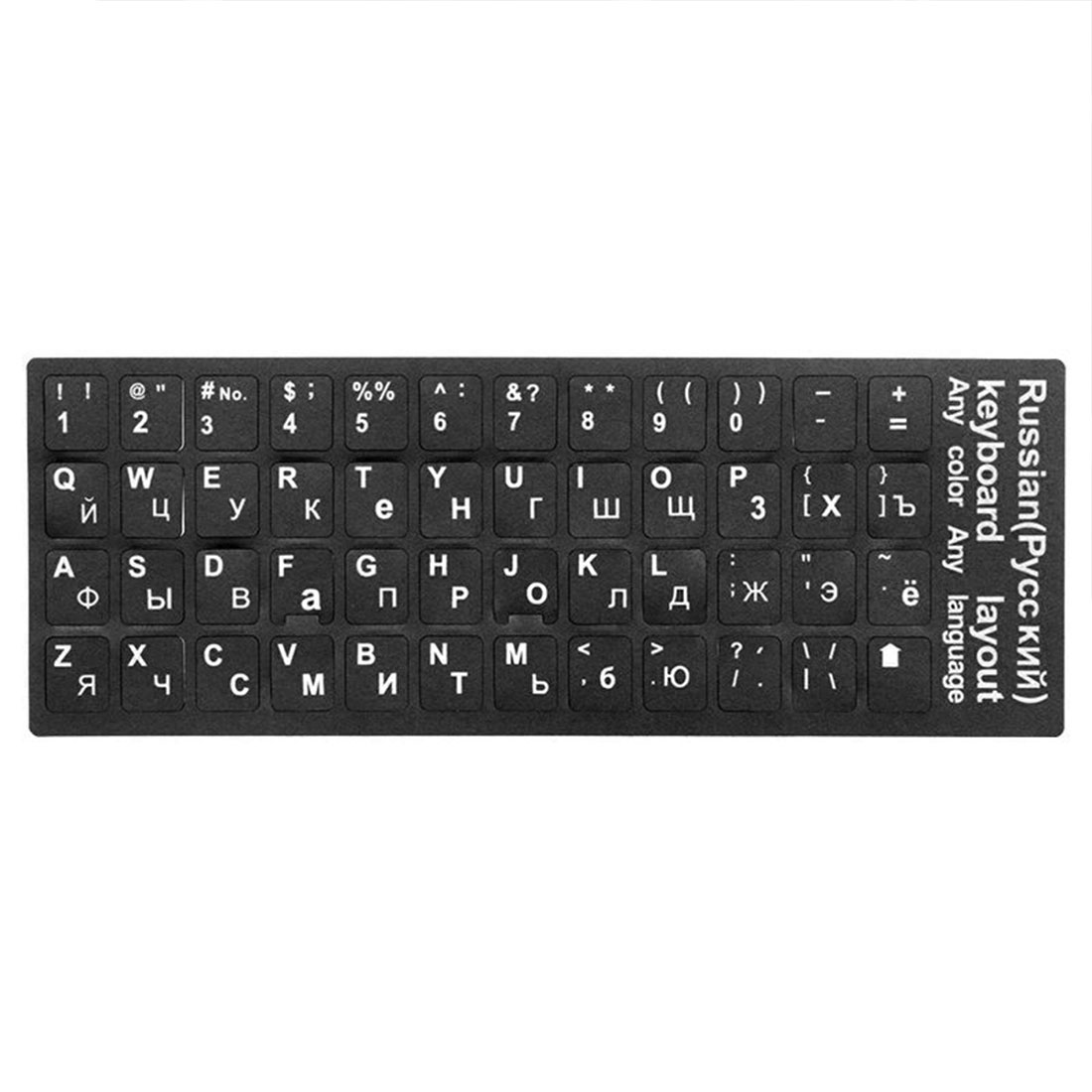 Russian Language KeyboardWaterproof Standard  Stickers Layout With Button Letters Alphabet For Computer Keyboard Protective Film
