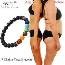 Браслет OAIITE из 7 чакр для йоги, лечебный браслет для сердца, терапия для женщин и мужчин, ювелирные изделия из бисера из натурального камня, чакра, молитвенный баланс, браслет
