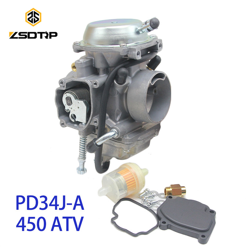 ZSDTRP PD34J-A 34mm Vacuum Carburetor case for POLARIS 425 450 2000-2010 universal other 400cc to 600cc racing motor UTV ATV britax römer летний чехол для автокресла kid ii kidfix sl britax roemer blue