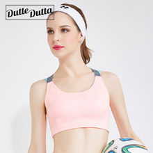 a438f971d Woman Sport Yoga Pink Sports Bra Top Criss Cross Strap Activewear For  Fitness Women Gym Push