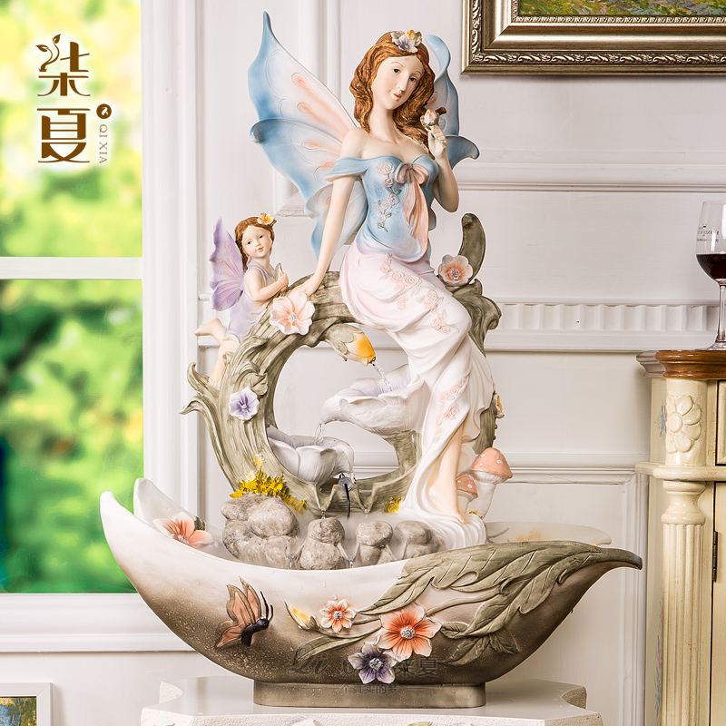 The living room TV cabinet creative home decoration decoration style water landing large high-end wedding housewarming gift