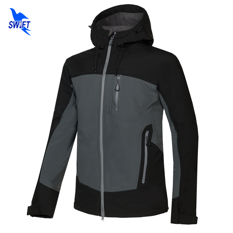 2018 New Mens Winter Soft Shell Hiking Jacket Outdoor Sport Hoodie Camping Trekking Ski Waterproof Tech Fleece Clothing Gore-Tex women plus size tankini set navy blue floral bathing suit sexy triangle bottom bikini push up swimwear female tankini swimsuit