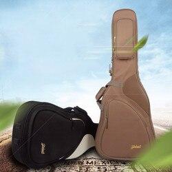 41 Акустическая классическая сумка для гитары рюкзак Регулируемый плечевой ремень портативный утолщенный мягкий черный