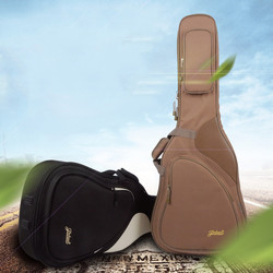 Funda de guitarra clásica acústica de 41 mochila con correa de hombro ajustable portátil grueso acolchado negro
