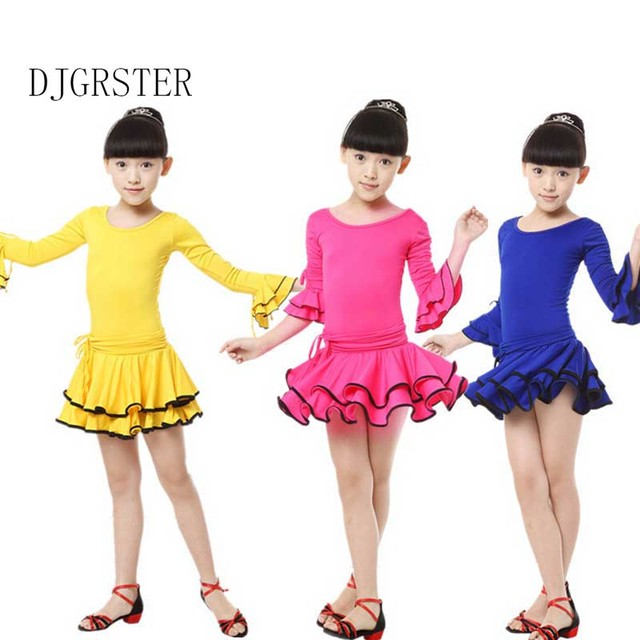 304e26f3c10b 2018 child dance girl latino dancing dresses kids costume ballroom ...