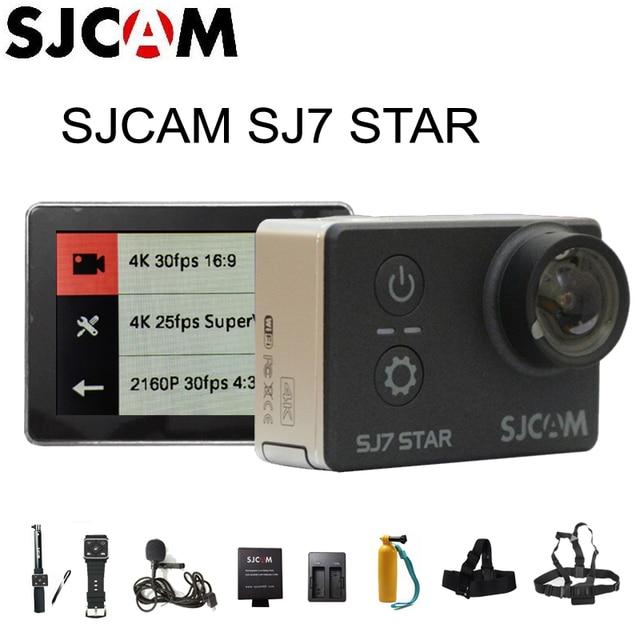 SJCAM SJ7 Star Wi-Fi 4 К 30FPS 2' камера DV с сенсорным экраном, удаленным управлением и креплением к шлему для съемки динамичных сюжетов Водонепроницаемый Ambarella A12S75 Чипсет SJ7