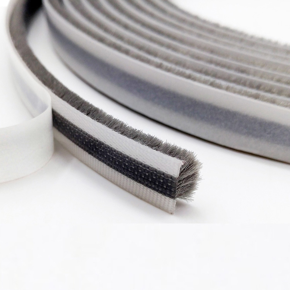 Adhesive Felt Draught Excluder Sliding Door Screen Sash Window Seals Brush Wool Pile Weatherstrip 13mm x 6mm 13x6mm 10m Gray