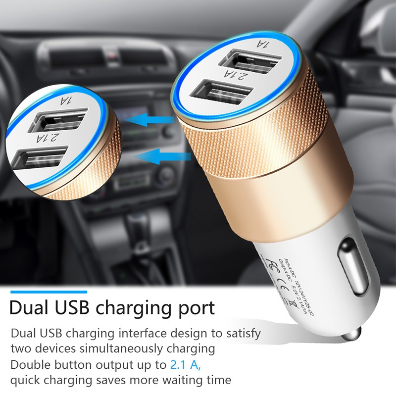 Dual USB SUV Car Charger For Xiaomi Mi 9 8 Lite A2 A1 F1 5 5S Plus Redmi Note 7 Pro 6 5 4 4X 4A 5A 6A Adapter Chargers Cargador (8)