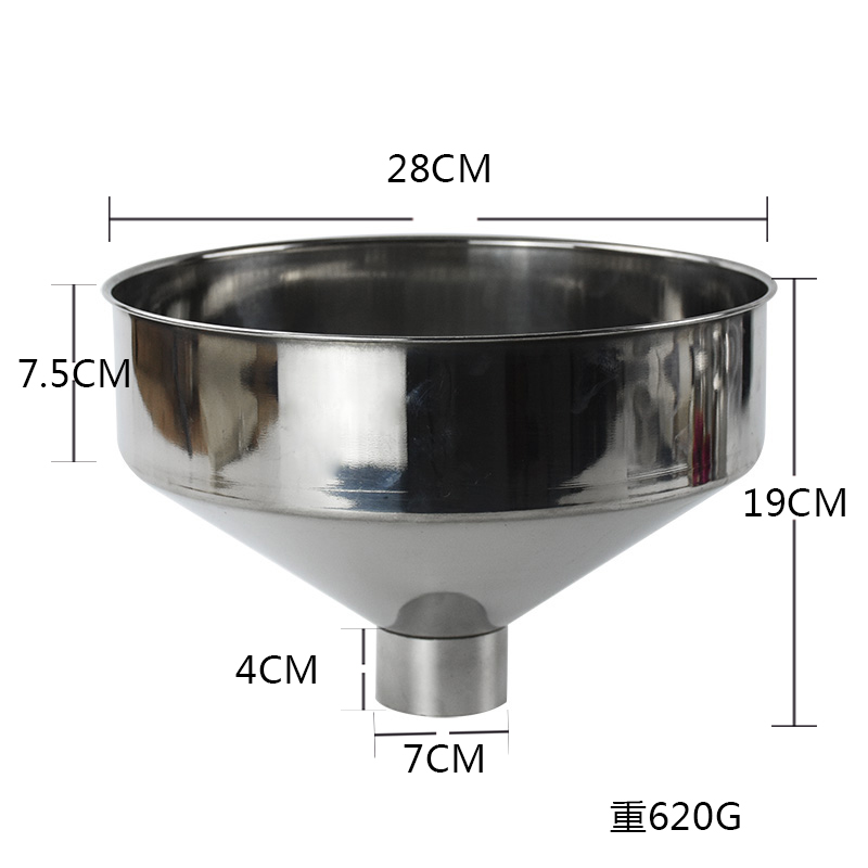 Set of 3 Stainless Steel Funnel Kitchen Funnels With Handles 4cm//5cm//7cm