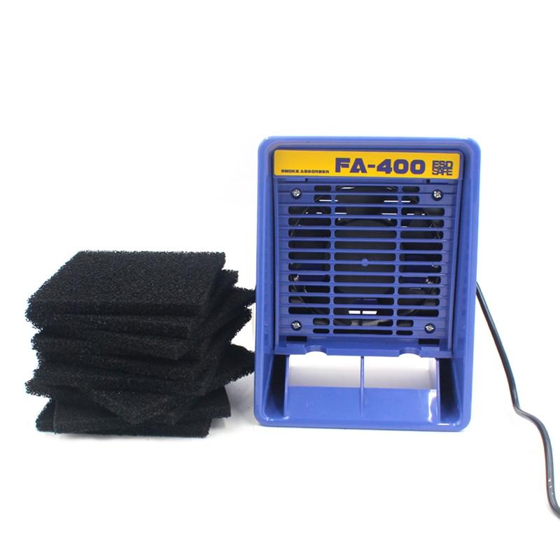 FA-400 Soldering Iron Smoke Absorber Fume Extractor Smoking Sponge Air Filter UK