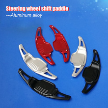 2pcs Aluminum Steering Wheel Shift Paddle Shifter Extension For Chevrolet Camaro 2012-2015 1 pair 3d steering wheel shift plectrum modified aluminium alloy plectrum for buick regal gl8 chevrolet camaro 2012 2015