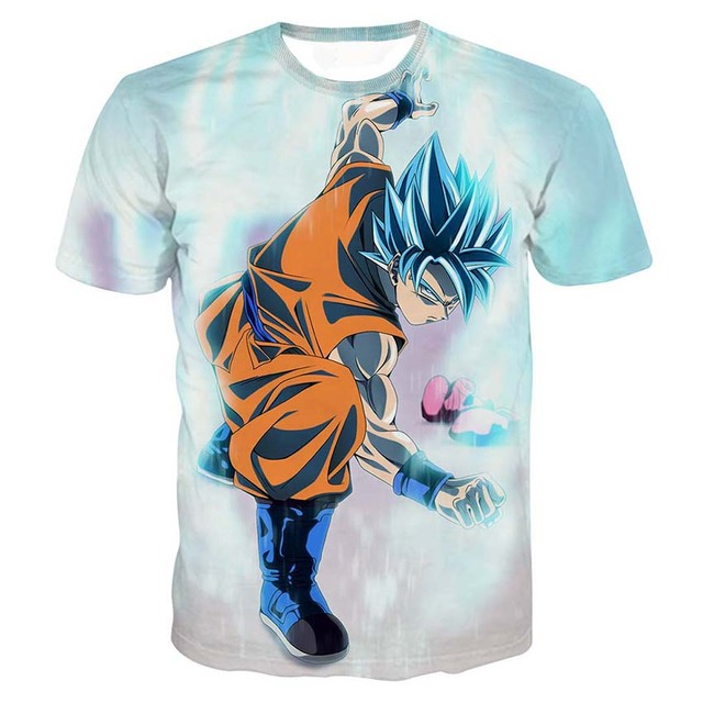 Dragon Ball Z T-shirts Mens Summer Fashion 3D Printing Super Saiyan Son Goku Vegeta Frieza Freeza Dragonball T Shirt Tops Tee