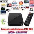 Mejor Quad Core Android TV Box con 1 Año 1000 + Árabe Francés bélgica código de IPTV En Vivo TV preinstalado XBMC smart tv caja iptv libre
