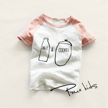 2-7year Children tees Kids boys tshirts Retail kids t-shirt O-neck Boys clothes cotton short sleeve t shirt Summer boy tops tees цена и фото