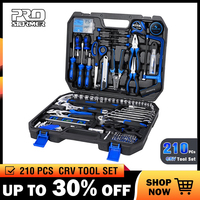 Prostormer 210 Pcs Ratchet Wrench Hand Tools Set Combination Socket Adapter Kit Spanner Set General Household Wrench Set Tool