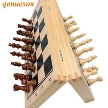 Хит, высокое качество, деревянный складной магнитный Шахматный набор, твердая деревянная шахматная доска, магнитные детали, развлекательные настольные игры, подарки для детей