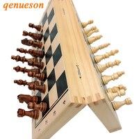 Qualidade superior de madeira quente conjunto xadrez magnético dobrável xadrez de madeira maciça peças magnéticas jogos de tabuleiro entretenimento crianças presentes|Jogos de xadrez| |  -
