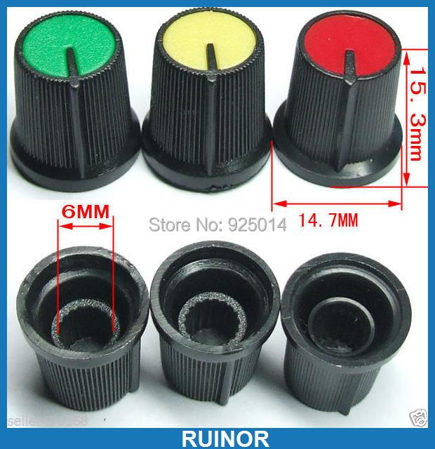 9PC Color Volume Knob tune control for Mixer Plastic AMPLIFIER Test Oscilloscope