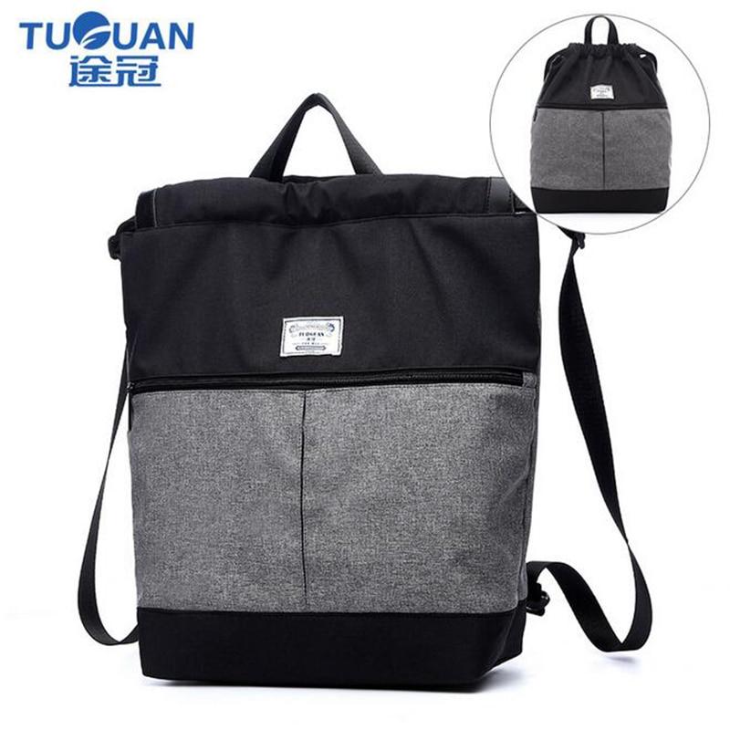 14inch Large Capacity Drawstring Security Backpack Men's Computer Canvas Bag Travel Multi-functional leisure Bag CF1665  цены