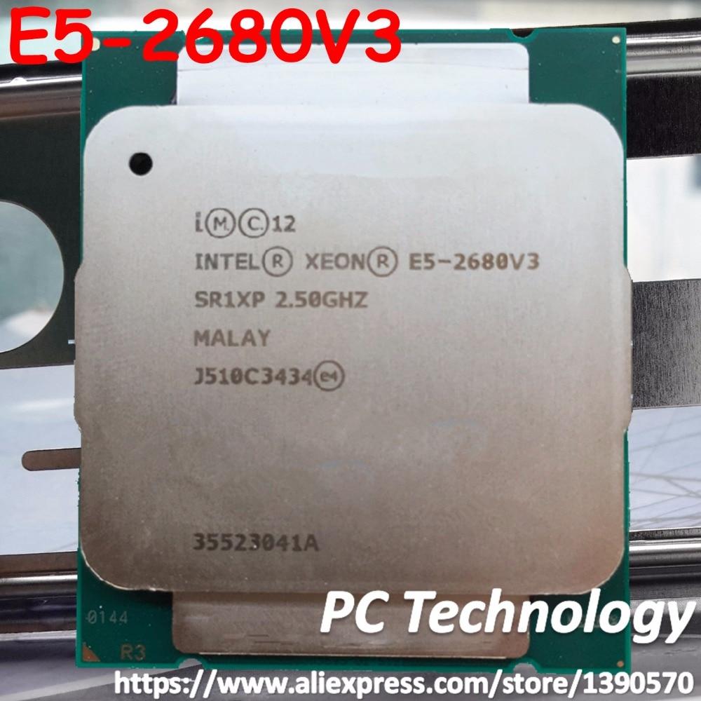 Original Intel Xeon Processor E5 2680V3 2 50GHz 30MB 120W SR1XP E5 2680 V3 LGA2011 3