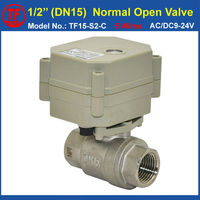 Stainless Steel 1 2 Normal Open Valve With Signal Feedback 5 Wires BSP NPT DN15 AC