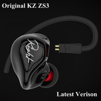 Original KZ ZS3 Earphone Hifi Stereo Ear Buds 3 5mm Jackplug Mobiles Headphones In Ear DJ