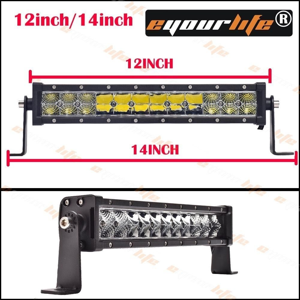 Eyourlife 12/14 inch 60w spot flood combo work driving led light bar Offroad SUV ATV Wholesale knowledge formalization and information retrieval