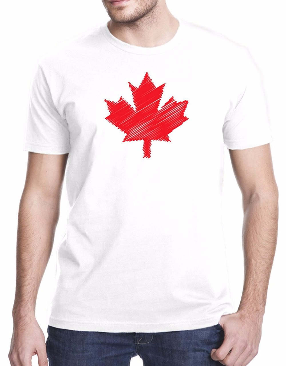 Shirt design canada - 2017 Hip Hop Novelty T Shirts Men S Brand Clothing Canada Maple Leaf Scribble Design Men S O