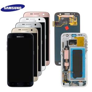 Image 2 - Ban Đầu 5.1 Super AMOLED LCD Dành Cho Samsung Galaxy Samsung Galaxy S7 G930 SM G930F G930F Màn Hình Hiển Thị LCD Với Bộ Số Hóa Cảm Ứng Thay Thế